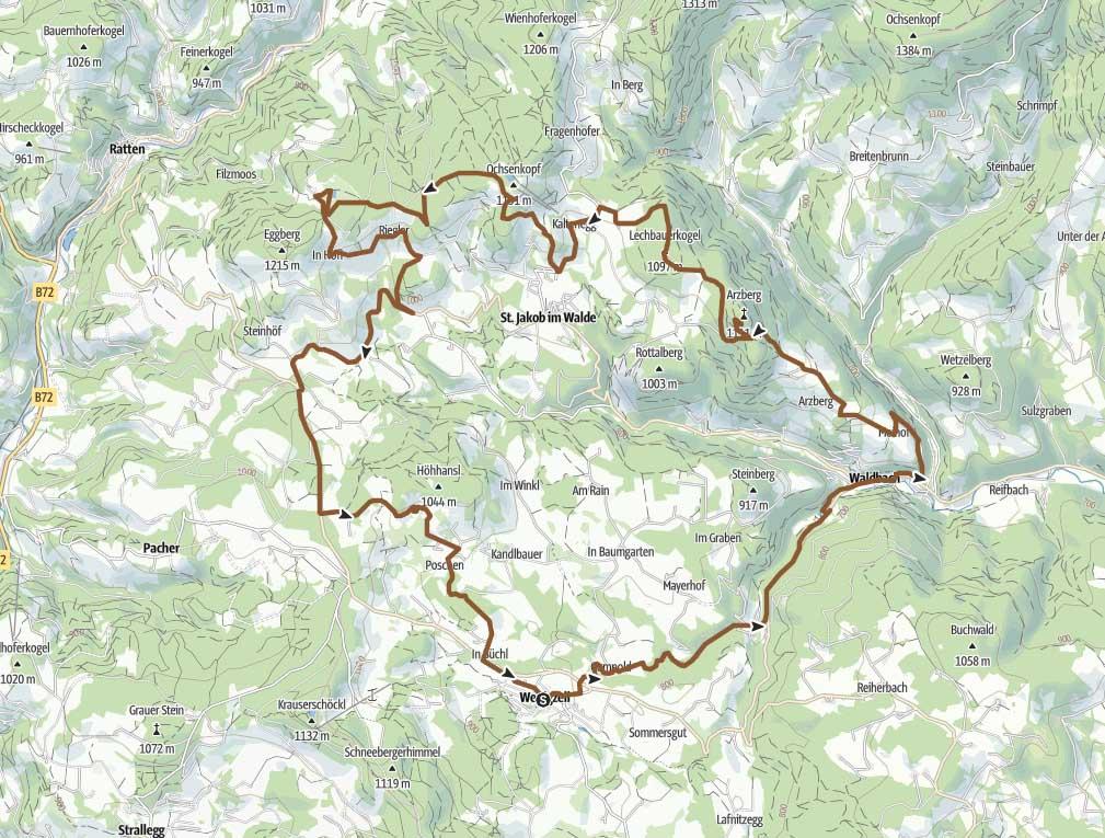 Arzbergrunde Radweg Joglland
