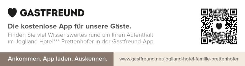 Gastfreund App für Gäste im Joglland Hotel