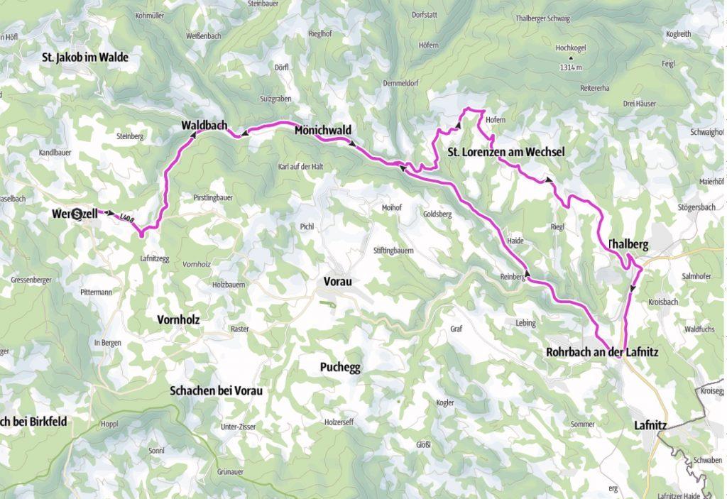 St. Lorenzen - Tour Radweg